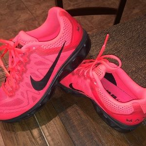 Shoes - Hot pink/hyper punch nike air max!!!